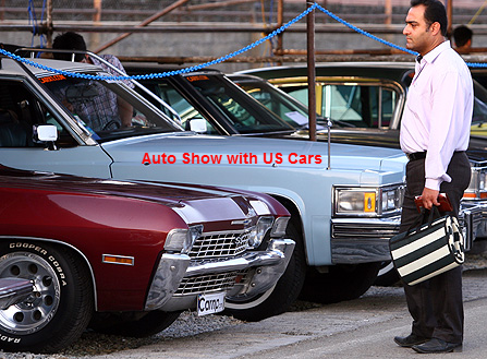 American cars in an Auto Show in Tehran