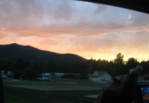 Montana sunset.