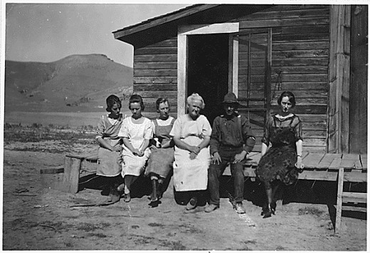 Photograph of a Dry-Land Farmer and His Family on the Flathead Reservation Near Niarada, Montana