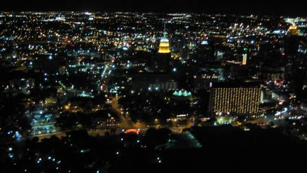 View from the Tower Of The Americas in Hemisfair Park in downtown San Antonio