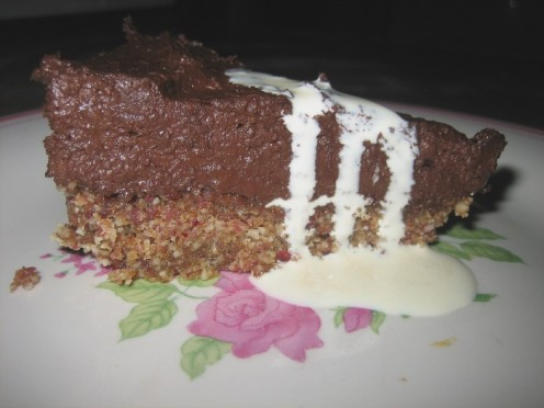Gluten and casein free chocolate tart