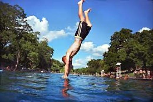 Barton Springs Pool - Austin's favorite swimming hole
