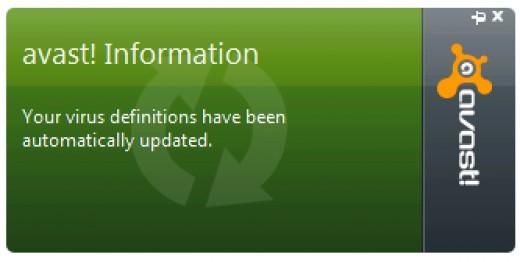 Avast! update window