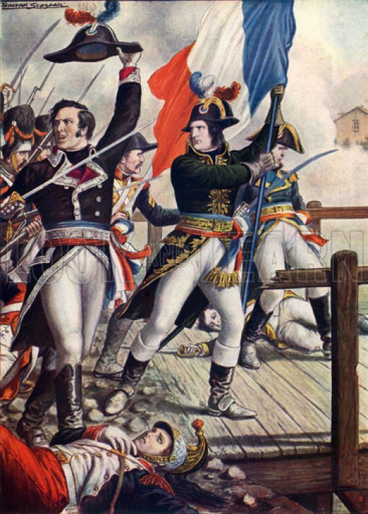 Napoleon himself, leading the charge at Arcole