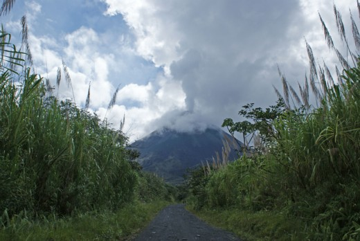 Arenal Volcano as seen from the west side.