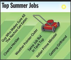 Summer jobs can be fun!  Well, maybe not that fun, but you get the idea.