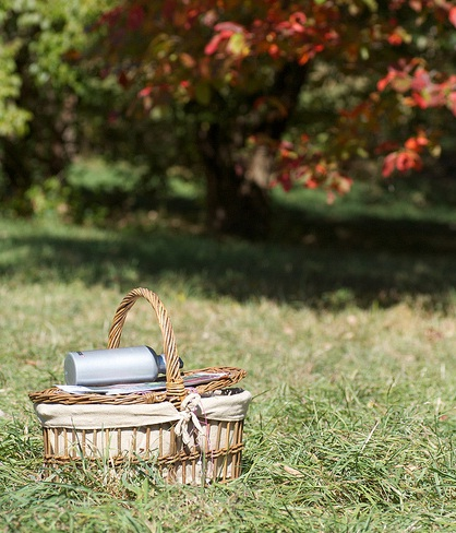 A picnic basket is easy to pack!