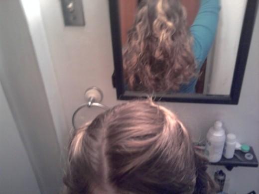 Result of using Sock Curls