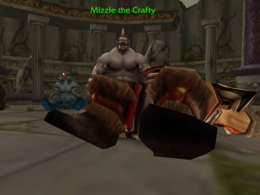 Mizzle the crafty stood over the body of the fallen king Gordok