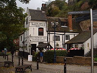 This photograph of Ye Olde Trip To Jerusalem, the oldest tavern in England, is courtesy of en.wikipedia.org.
