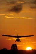 And we flew into a beautiful sunset with love and peace in our hearts