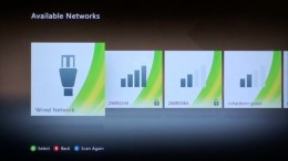 The wireless networks in the Available Networks screen will be detected after a few seconds.