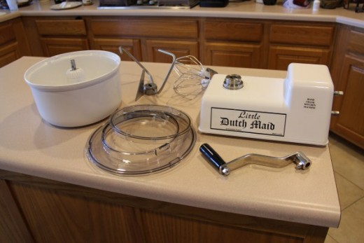 The Little Dutch Maid Hand Crank Kitchen Machine