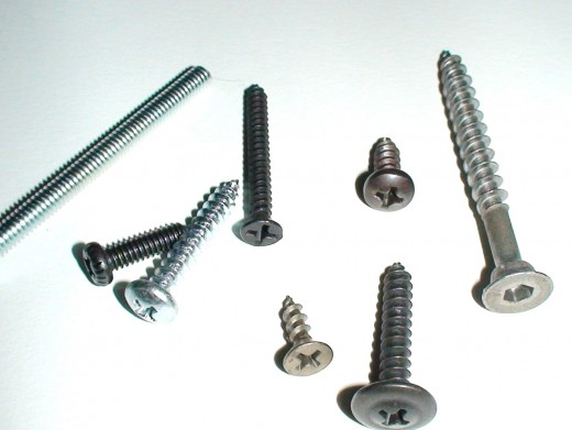 Screws come in a number of sizes which have been standardized in US and metric sizes.