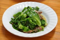 Chinese Broccoli in Ginger and Wine Sauce Stir-fry