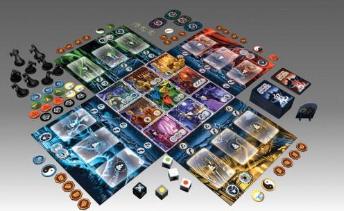 The Ghost Stories board, cards and pieces.