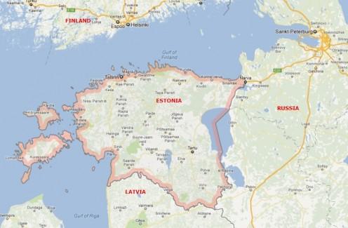 Estonia and neighbors.