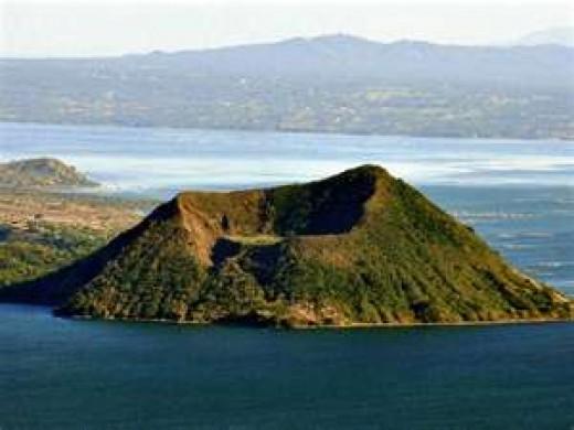 Taal Volcano crater...