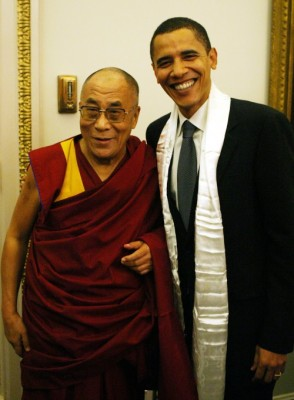 Barack Obama and the Dalai Lama photo