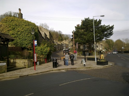 Bottom end of Haworth village