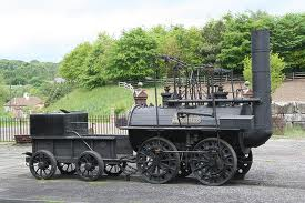 Locomotion No 1, the locomotive that hauled the inaugural train in September, 1825 - this is the replica built in the 1970's