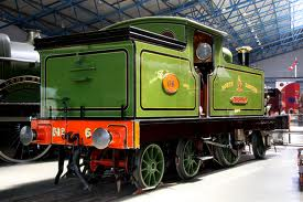 'Aerolite' at the NRM - pioneer locomotive engineering, rebuilt twice. This engine latterly hauled the inspection saloon on the NER and LNER in the 1920's