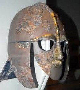 The iconic Sutton Hoo parade helmet - thought to be Raedwald's from the 7th Century