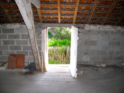 Looking out lower loft, above bedroom