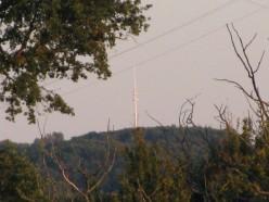 Mast at 'le Centre de la France', from our top field