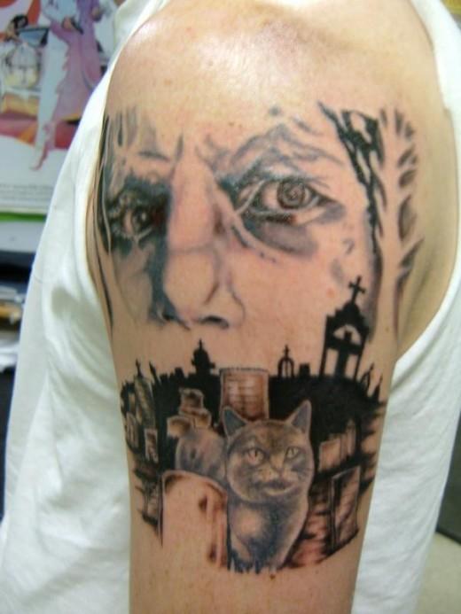 Cemetery, Graveyard Tattoos | 520 x 693 jpeg 66kB