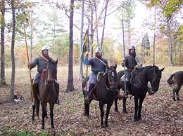 Some of the riders of a Norman 'conroi', a troop of armed horsemen that could number a score or so