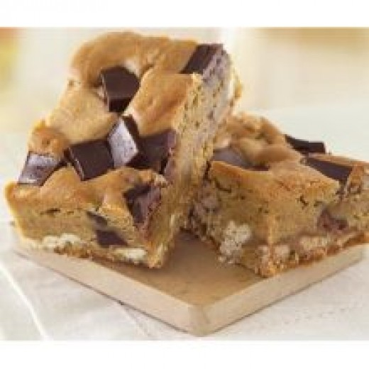 """White Chocolate Blondies"""