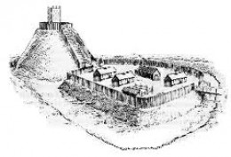 Motte and Bailey castles were originally built wood. Surprisingly few were attacked using fire, although they would not have stood long had they been attacked in this way. William fitzOsbern's Hereford castle fell to fire, as did two in York