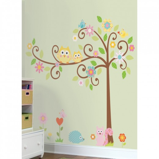 Scroll Tree Wall Decal