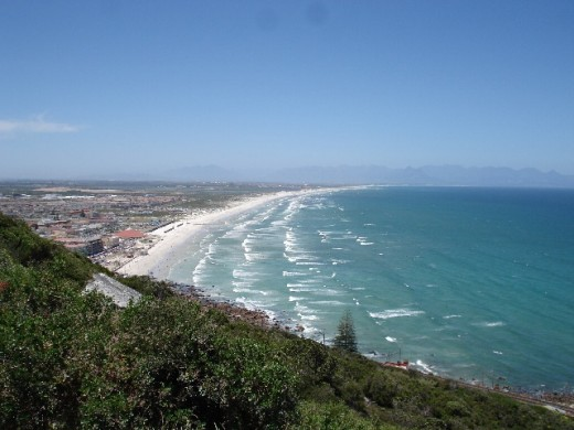 Muizenberg beach from Boyes Drive