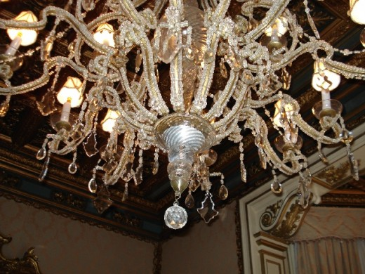 Crystal chandelier at Casa Labia Muizenberg