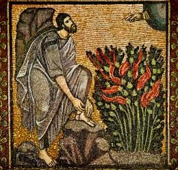 """Moses """"Burning Bush"""" - Byzantine mosaic"""