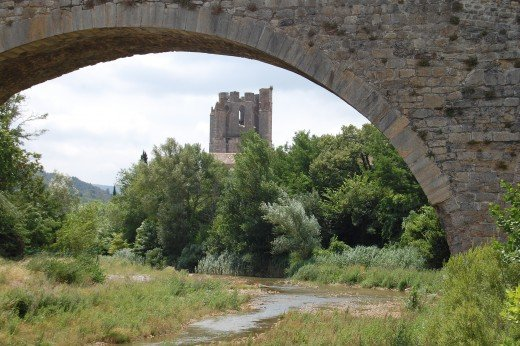 Abbey of St Mary through the bridge