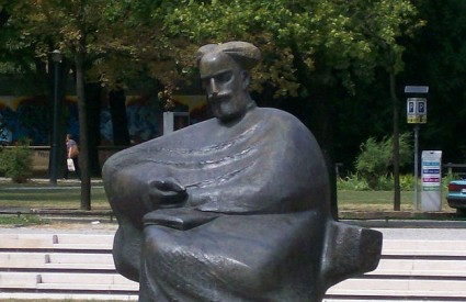 The sculpture of Marko Marulić, made by famous Croatian 20th century sculptor, internationally acclaimed  Ivan Meštrović.