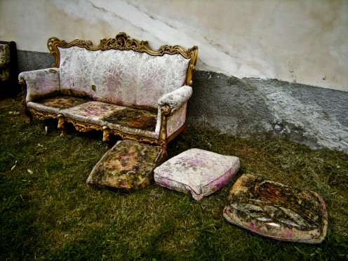 An uncared for antique sofa is a sad sight to behold.