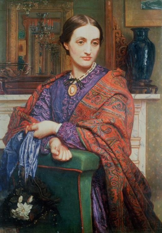 "William Holman Hunt, ""A Lady in an Interior,"" c.1850  Maas Gallery, London"