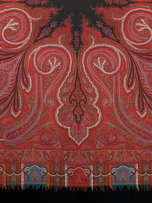 Detail of Scottish shawl, 1870 Collection of Brooklyn Museum, NY
