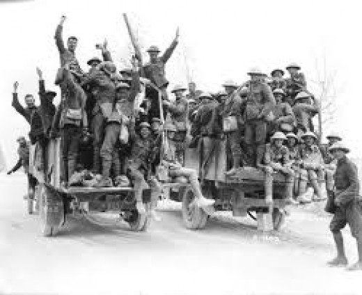 Canadian Soldiers returning home.