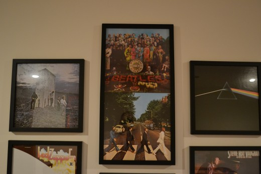 A double frame with The Beatles