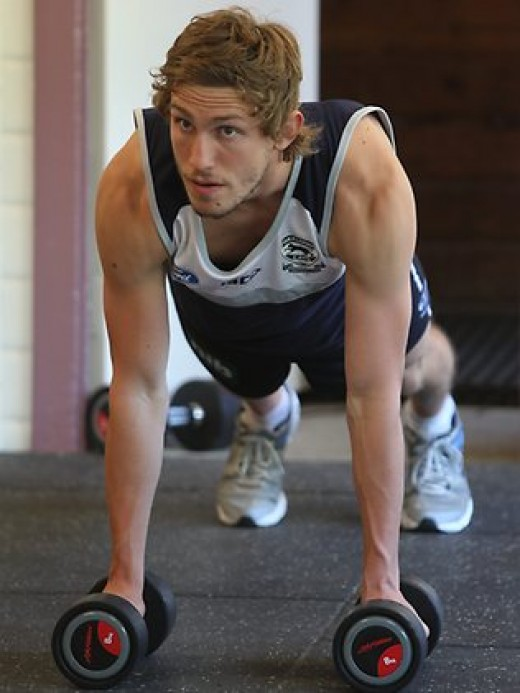 Billy Smedts (pictued) looks set to have a successful 2012 at Geelong - picture courtesy of Herald Sun