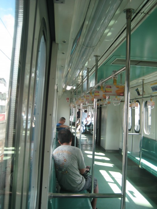 Inside LRT couches