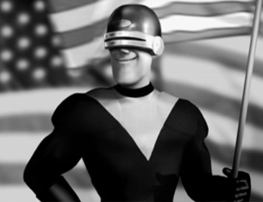 Bet you don't know who this is.   This is Gazerbeam, the first murdered super that Mr. Incredible discovers.