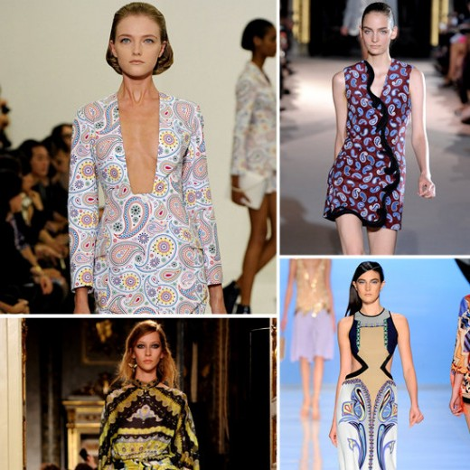 Paisley prints featured in Spring 2012 collections