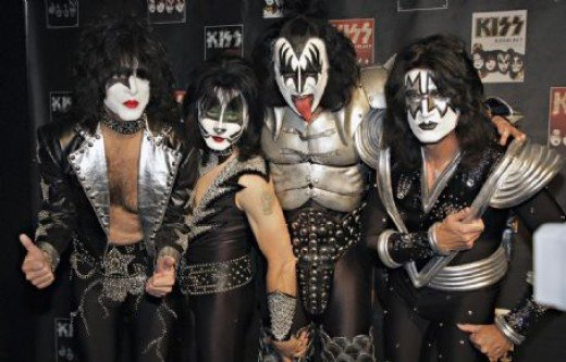 KISS with Paul, Eric Singer, Gene, and Tommy Thayer