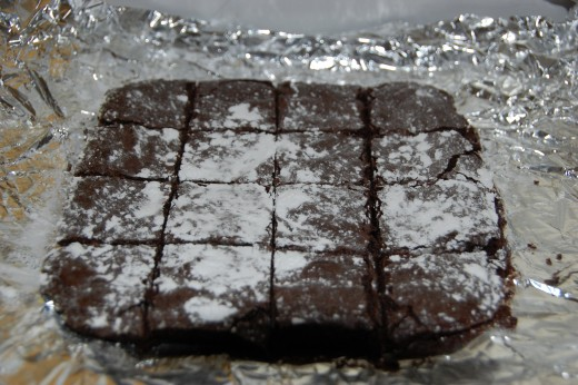 Brownies made with browned butter, from Bon Appetit Magazine
